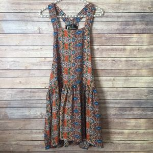 Chandelier Patterned Apron Overall Coveralls Dress